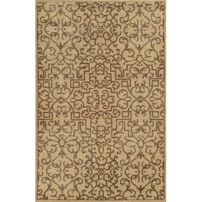 Veracruz Hand-Knotted Beige Area Rug Rug Size: Rectangle 5 x 8
