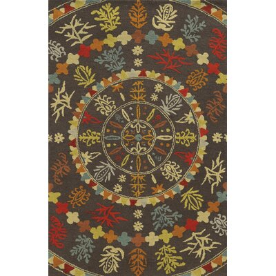 Galveston Hand-Tufted Brown/Red Area Rug Rug Size: 8 x 10