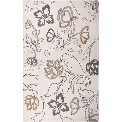 Houston Hand-Tufted Ivory Area Rug Rug Size: 5 x 8