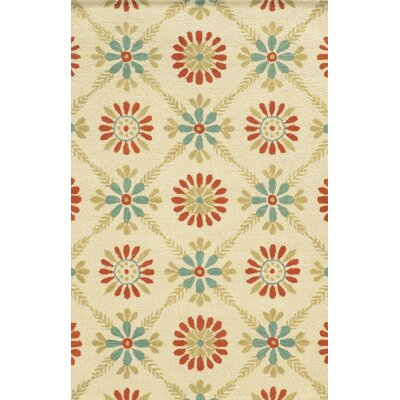 Louisiana Hand-Tufted Ivory Area Rug Rug Size: 5 x 8