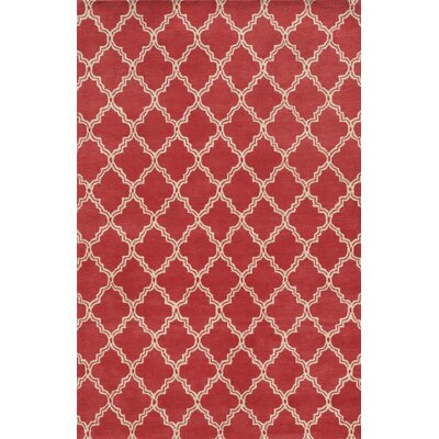 Matamoros Hand-Tufted Red Area Rug Rug Size: Rectangle 5 x 8