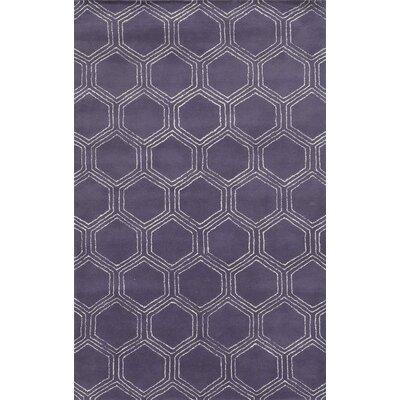Tamaulipas Hand-Tufted Purple Area Rug Rug Size: 3 x 5