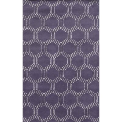 Tamaulipas Hand-Tufted Purple Area Rug Rug Size: 5 x 8