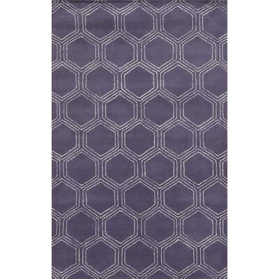 Tamaulipas Hand-Tufted Purple Area Rug Rug Size: Rectangle 2 x 3
