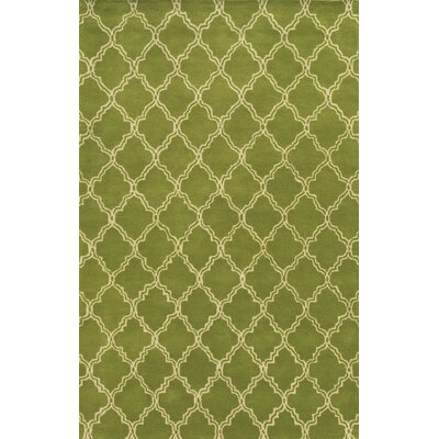 Progreso Hand-Tufted Green Area Rug Rug Size: 2 x 3