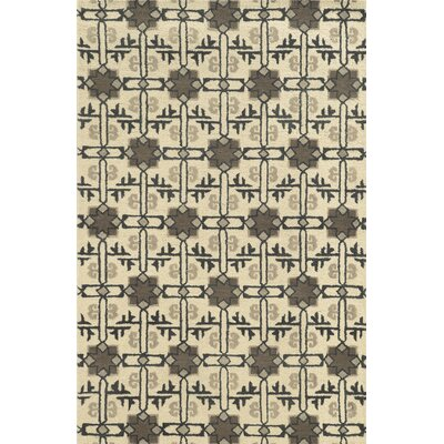 Tampico Hand-Tufted Ivory Area Rug Rug Size: 5 x 8