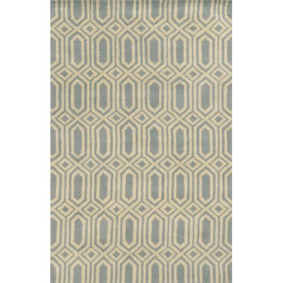 Bruges Hand-Tufted Lime/Charcoal Area Rug Rug Size: 3 x 5