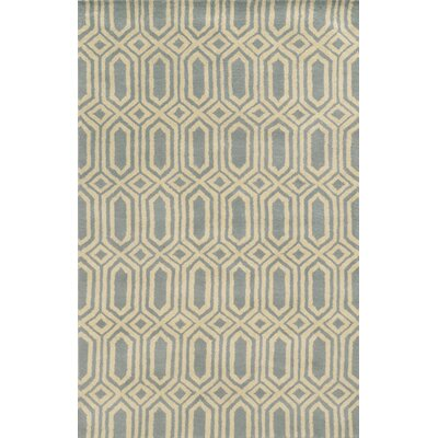 Bruges Hand-Tufted Lime/Charcoal Area Rug Rug Size: 8 x 10