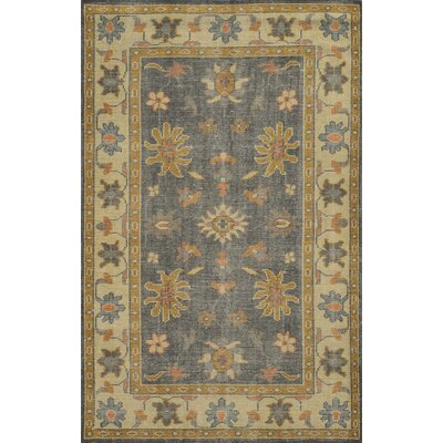 Zeebrugge Hand-Knotted Charcoal/Beige Area Rug Rug Size: 3 x 5