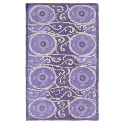 Ghent Hand-Tufted Lavender Area Rug Rug Size: 8 x 11