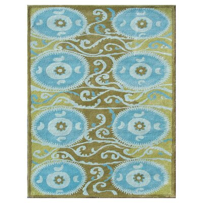 Gothenburg Hand-Tufted Blue Area Rug Rug Size: 5 x 8