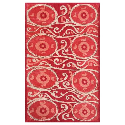 Grimsby Hand-Tufted Red Area Rug Rug Size: 10 x 13