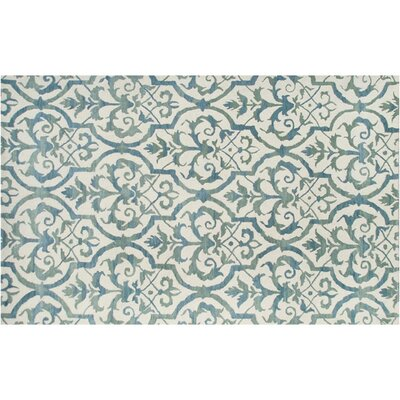 Newcastle Hand-Tufted Blue Area Rug Rug Size: 5 x 8