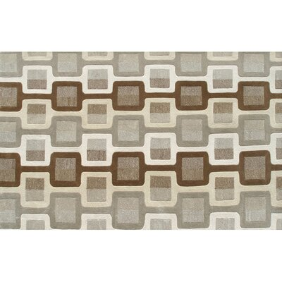 Port Hand-Tufted Brown/Gray Area Rug Rug Size: 8 x 11
