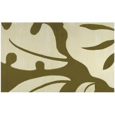 Stavanger Hand-Tufted White/ Green Area Rug Rug Size: 5 x 8