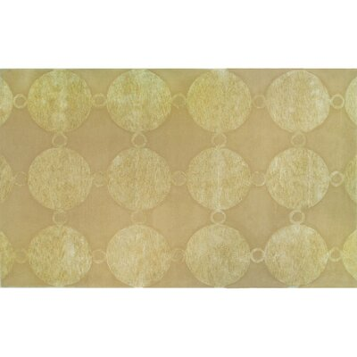 Terneuzen Hand-Tufted Gold Area Rug Rug Size: 5 x 8