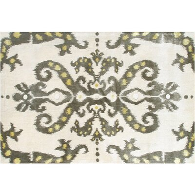 Thamesport Hand-Tufted Cream/Green Area Rug Rug Size: 8 x 11