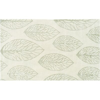 Hand-Tufted Cream/Olive Area Rug Rug Size: 5 x 8