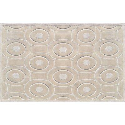 Montreal Hand-Tufted Cream Area Rug Rug Size: 5 x 8