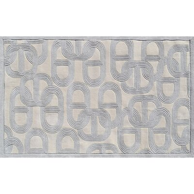 Trois-Rivieres Hand-Tufted Gray Area Rug Rug Size: 5' x 8'