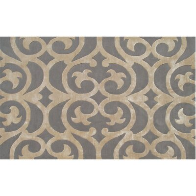 Scarborough Handmade Taupe Area Rug Rug Size: 5 x 8