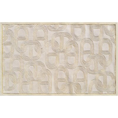Naples Hand-Tufted Cream Area Rug Rug Size: 10 x 13