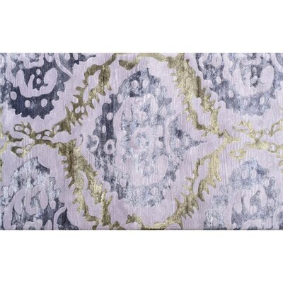 Arkhangelsk Hand-Tufted Purple Area Rug Rug Size: 8 x 11