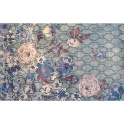 Barrow Hand-Tufted Grey/Lilac Area Rug Rug Size: 5 x 8