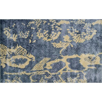 Manitoba Hand-Tufted Gray/Yellow Area Rug Rug Size: 5 x 8