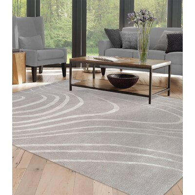 Naryan-Mar Hand-Tufted Gray/Silver Area Rug Rug Size: 8 x 11