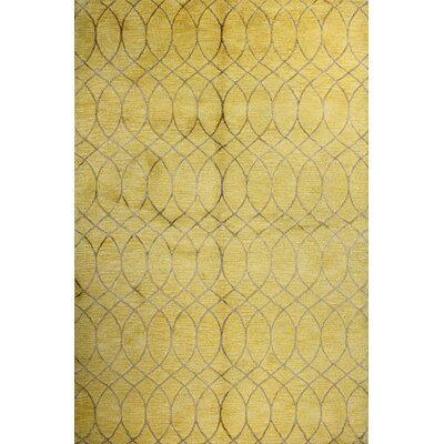 Mormugao Hand-Tufted Gold Area Rug Rug Size: Rectangle 56 x 86