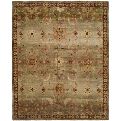 Chalmers Hand-Knotted Brown Area Rug Rug Size: 10 x 14