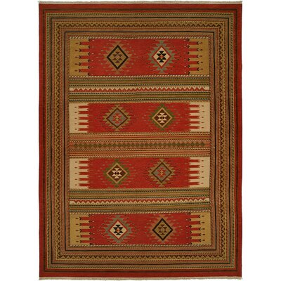 Hueneme Hand-Woven Rust Area Rug Rug Size: Rectangle 12 x 18