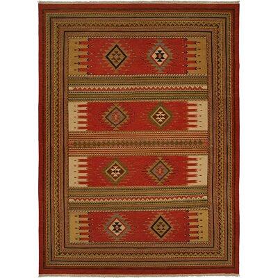 Hueneme Hand-Woven Rust Area Rug Rug Size: 6 x 9