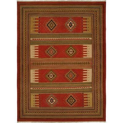 Hueneme Hand-Woven Rust Area Rug Rug Size: 10 x 14