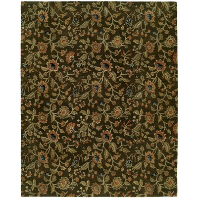 Hand-Tufted Brown Area Rug Rug Size: Runner 26 x 10