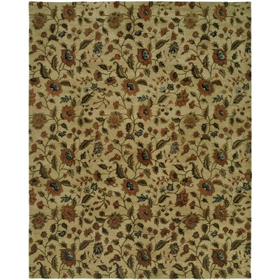 Hand-Tufted Beige Area Rug Rug Size: 6 x 9