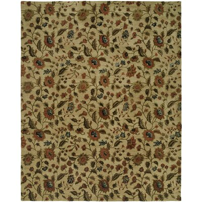 Hand-Tufted Beige Area Rug Rug Size: 96 x 136