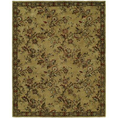Hand-Tufted Brown/Beige Area Rug Rug Size: 9 x 12
