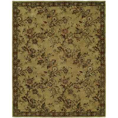 Hand-Tufted Brown/Beige Area Rug Rug Size: 96 x 136