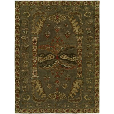 Hand-Tufted Green Area Rug Rug Size: 2 x 3