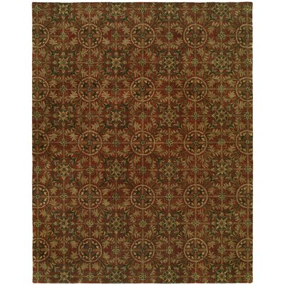 Hand-Tufted Red Area Rug Rug Size: 6 x 9