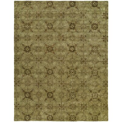 Hand-Tufted Green Area Rug Rug Size: 96 x 136