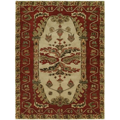 Hand-Tufted Red/Brown Area Rug Rug Size: 5 x 8