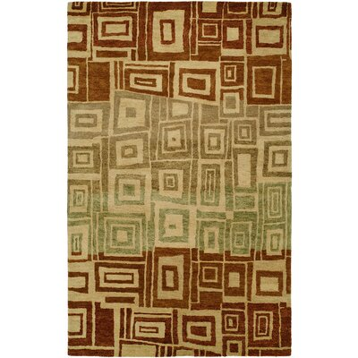 Hand-Tufted Brown/Beige Area Rug Rug Size: Runner 26 x 8