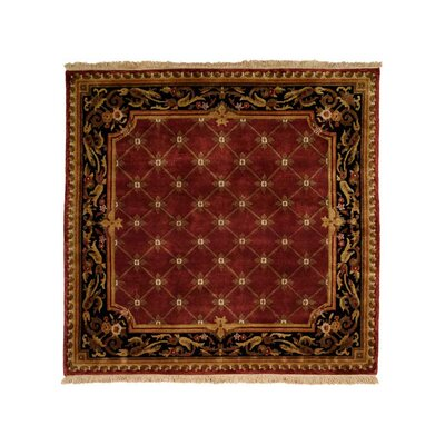 Hand-Woven Red/Black Area Rug Rug Size: 6 x 9