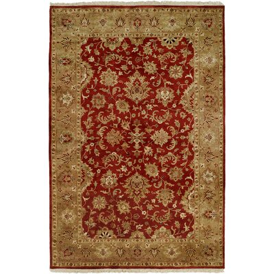 Botany Hand-Woven Rust/Ivory Area Rug Rug Size: 6 x 9