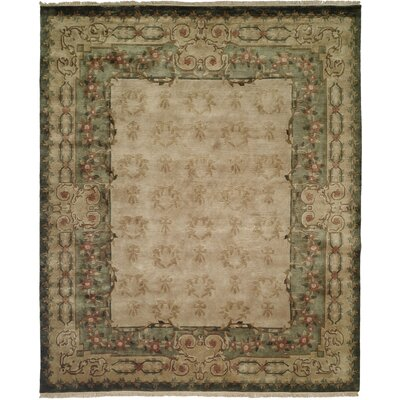 Hand-Woven Beige Area Rug Rug Size: Rectangle 6 x 9