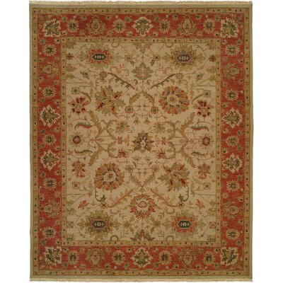 Kamel Hand-Woven Beige/Red Area Rug Rug Size: 9 x 12