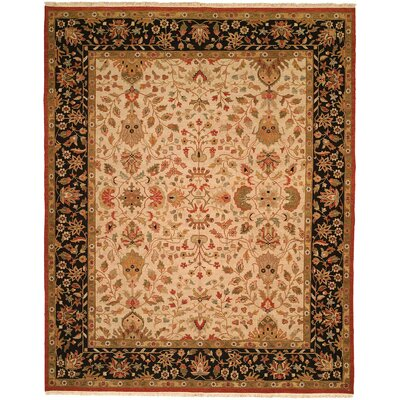 Incheon Hand-Woven Beige/Black Area Rug Rug Size: 6 x 9